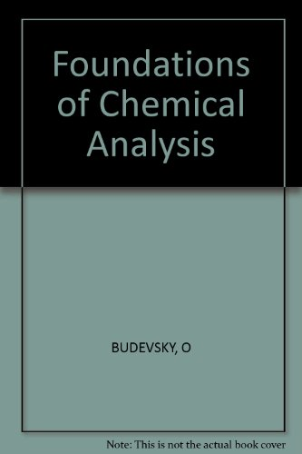 9780853121725: Foundations of Chemical Analysis