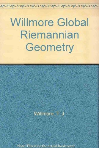 Willmore Global Riemannian Geometry: Willmore, T. J.;