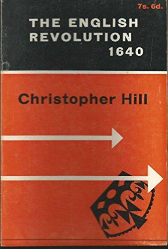 9780853150442: The English Revolution, 1640: An Essay