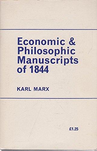 9780853152132: Economic and Philosophic Manuscripts of 1844