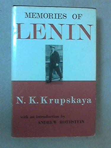 9780853152149: Memories of Lenin