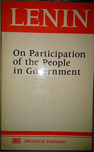 On the Participation of the People in Government (0853155089) by Lenin, V. I.