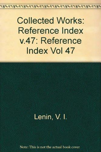 9780853155263: Collected Works: Reference Index v.47 (Vol 47)