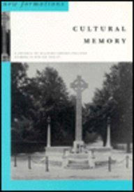 New Formations No 30 Cultural Memory (0853158606) by Erica Carter