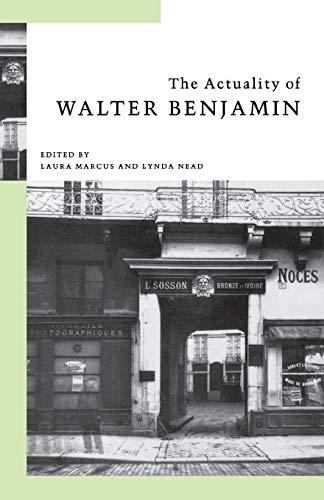 9780853158639: The Actuality of Walter Benjamin