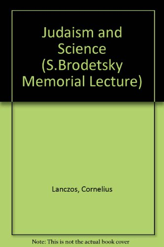 9780853160212: Judaism and Science (S.Brodetsky Memorial Lecture)