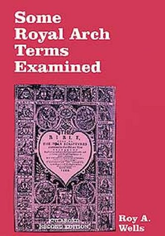 9780853181545: Some Royal Arch Terms Examined