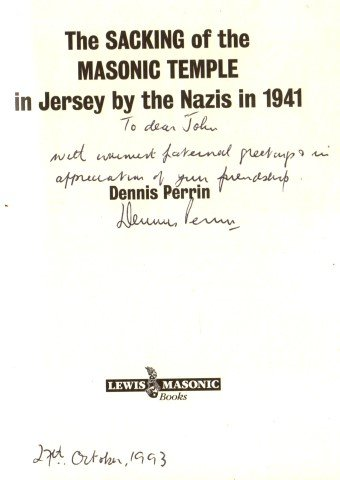 9780853181965: The Sacking of the Masonic Temple in Jersey by the Nazis in 1941.