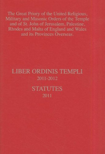 9780853183952: Knights Templar Yearbook, Liber Ordinis Templi/Statutes: The Great Priory of the United Religious, Military and Masonic Orders of the Temple and of St