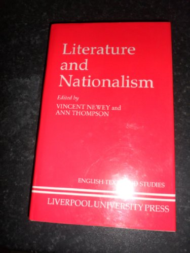 9780853230571: Literature and Nationalism (Liverpool University Press - Liverpool English Texts & Studies)