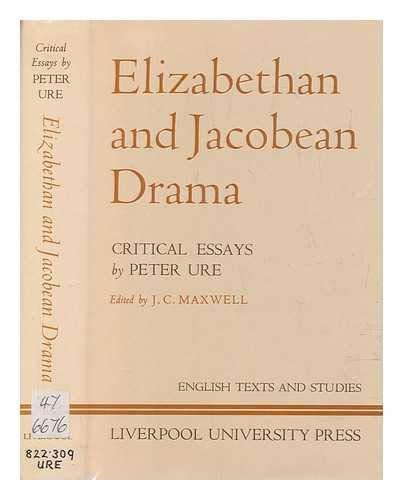 9780853231424: Elizabethan and Jacobean Drama (English Texts & Studies)
