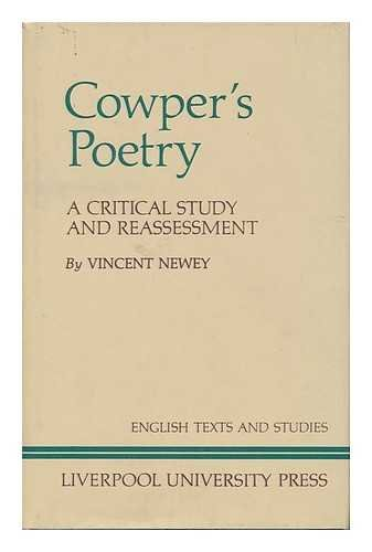 9780853233442: Cowper's Poetry: A Critical Study and Reassessment.