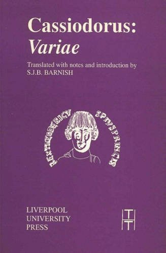 9780853234364: Cassiodorus: Variae (Translated Texts for Historians LUP)
