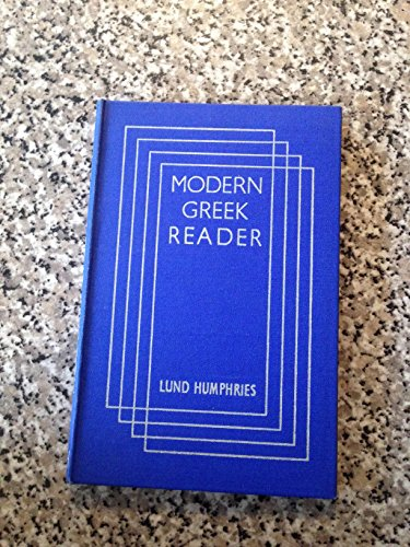 9780853310730: Modern Greek Reader