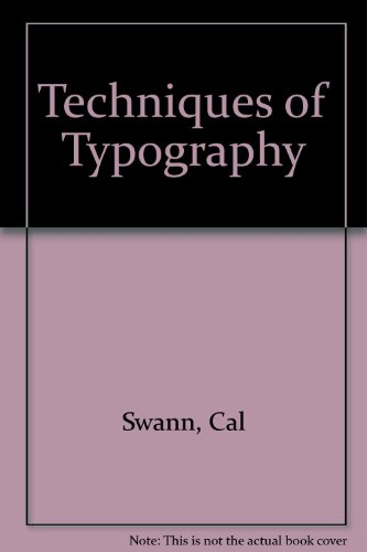 9780853312390: Techniques of Typography