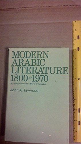 9780853313090: Modern Arabic Literature, 1800-1970