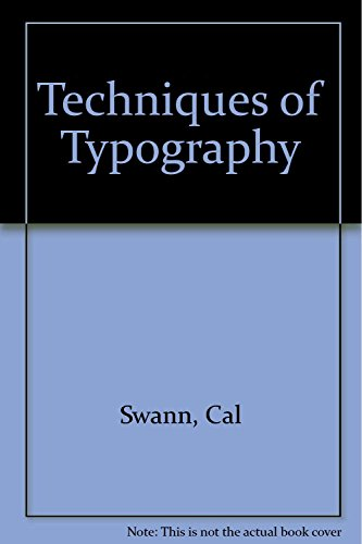 9780853314424: Techniques of Typography