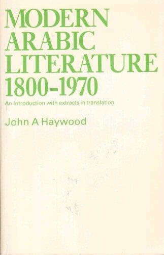 9780853314677: Modern Arabic Literature, 1800-1970