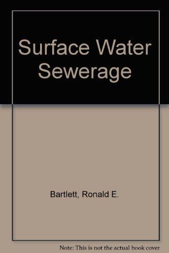 9780853346722: Surface Water Sewerage