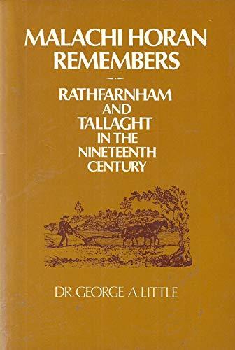 Malachi Horan Remembers: Rathfarnham and Tallaght in: George A. Little