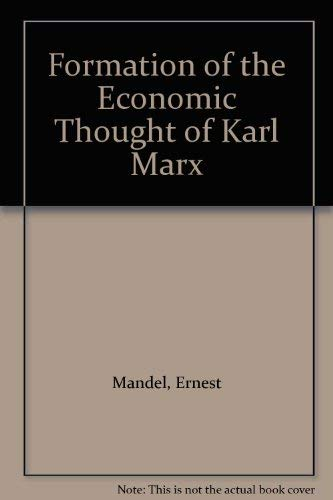 Formation of the Economic Thought of Karl: Mandel, Ernest