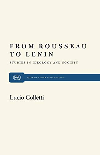 9780853453505: From Rousseau to Lenin