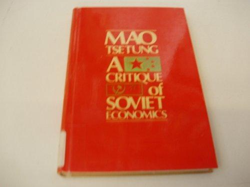 9780853454120: A Critique of Soviet Economics