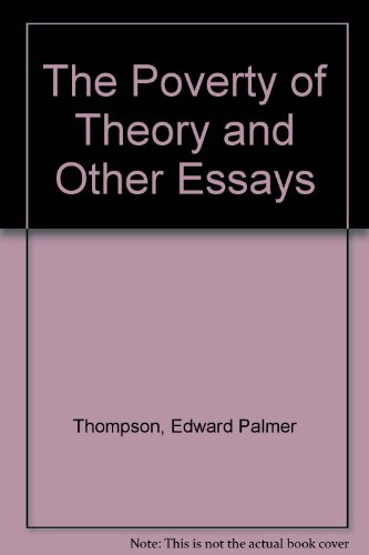 the poverty of theory and other essays  9780853454892 the poverty of theory and other essays