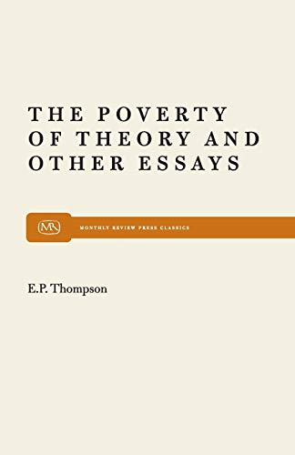 9780853454915: The Poverty of Theory & Other Essays