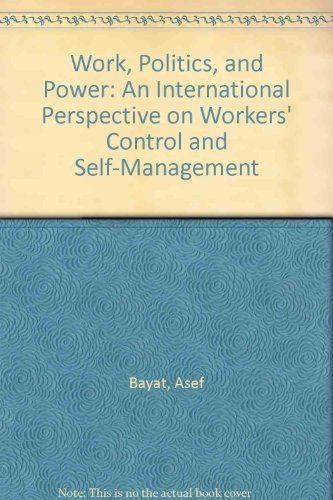 9780853458333: Work, Politics, and Power: An International Perspective on Workers' Control and Self-Management