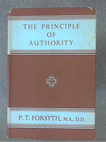 9780853460619: Principle of Authority