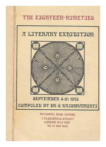 Eighteen-nineties: A Literary Exhibition: Gutala Krishnamurti