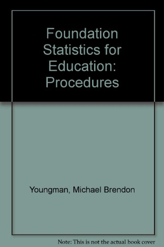 9780853591429: Foundation Statistics for Education