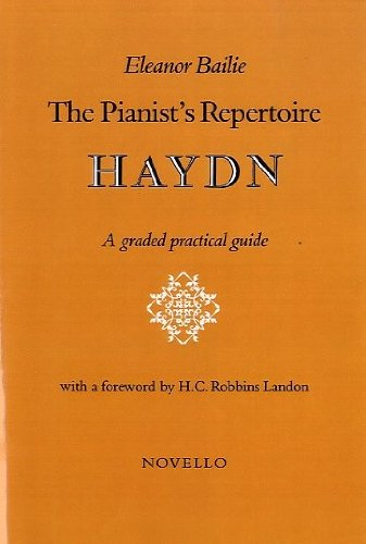 The Pianist's Repertoire: Haydn Book (0853601399) by Bailie, Eleanor