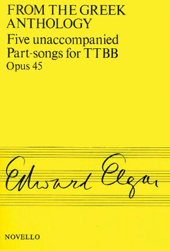 9780853602538: Five Unaccompanied Part-Songs for TTBB - Op. 45: From the Greek Anthology