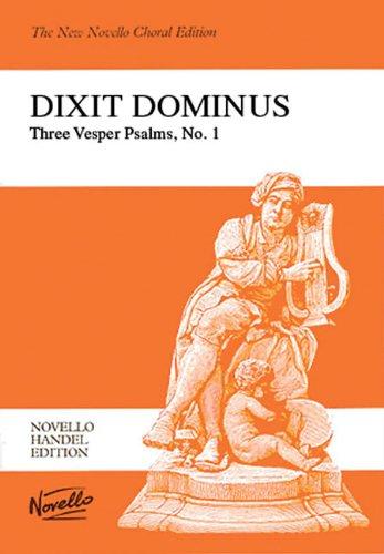 9780853603030: Dixit Dominus (Novello Handel Editons)