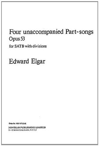 9780853603160: 4 UNACCOMPANIED PART-SONGS COLL/WRKS/SCOR