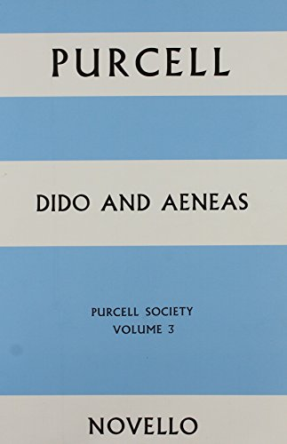 9780853605409: Purcell Society - Dido and Aeneas (full Score): v. 3