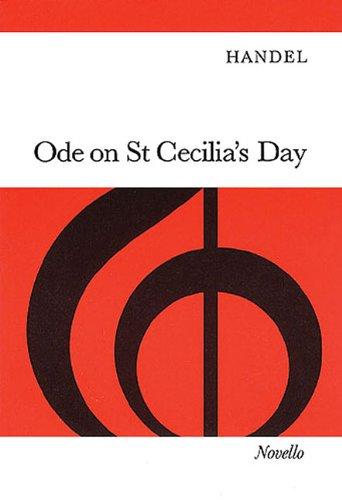 9780853606369: ODE ON ST CECILIA'S DAY VOCAL SCORE SATB AND ORCHESTRA FOR SOPRANO OR TENOR SOLI