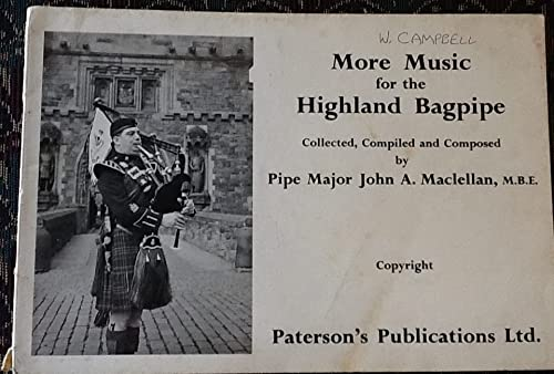9780853609155: MORE MUSIC FOR HIGHLAND BAGPIPE