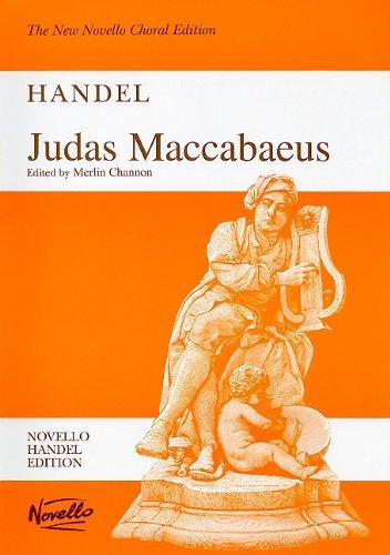 9780853609407: JUDAS MACCABEUS VOCAL SCORE (The New Novello Choral Edition: Novello Handel Edition)