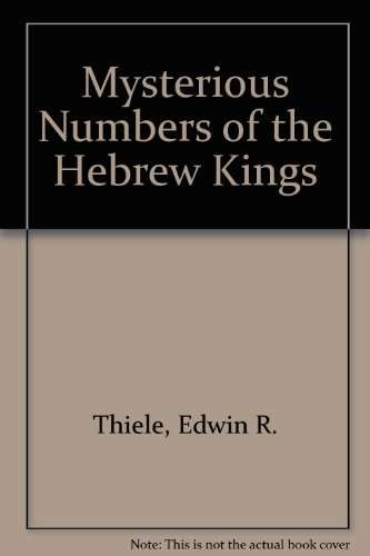 9780853640479: Mysterious Numbers of the Hebrew Kings