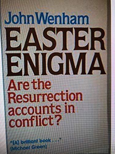 Easter Enigma (A Latimer Monograph): J.W. Wenham