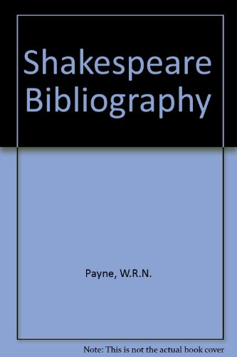 A Shakespeare Bibliography