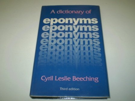 9780853655596: Dictionary of Eponyms