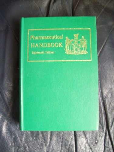 Pharmaceutical Handbook 1972 (An 'Extra Pharmacopoeia' companion: Pharmaceutical Society of