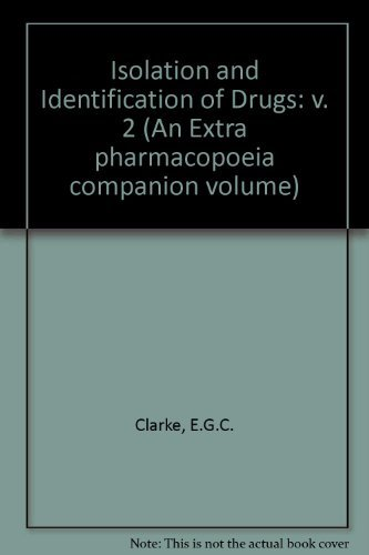 9780853690955: Isolation and Identification of Drugs: v. 2