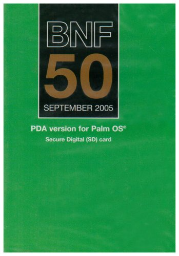 9780853696407: BNF 50 September 2005: PDA Version For Palm OS (British National Formulary)
