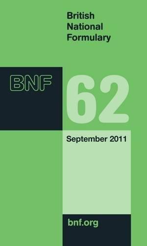 9780853699811: British National Formulary (BNF) 62