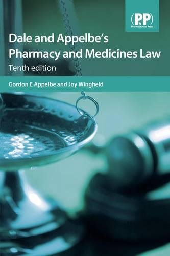 Dale and Appelbe's Pharmacy and Medicines Law
